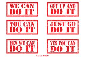 Motivational Rubber Stamp Set