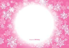 Beautiful Pink Christmas Snowflake Background