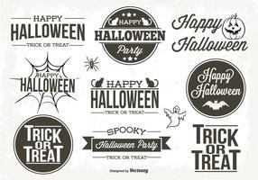 Typographic Halloween Labels