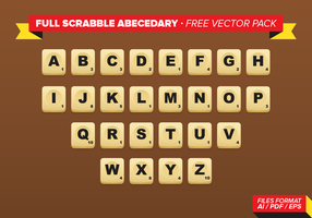 Full Scrabble Abecedary Free Vector Pack