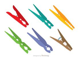 Colorful Clothespin Icons