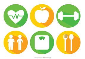 Diet Long Shadow Icons