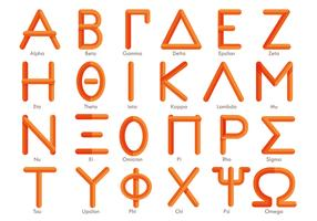 Modern Greek Alphabet Vector