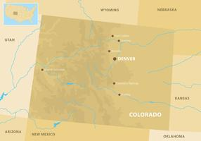 Colorado Mountains Map