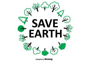 Save Earth Tree Wreath