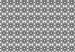 Black And White Flowers Shape Pattern