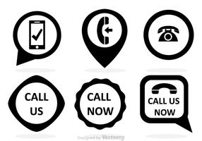 Call Now Black Vectors