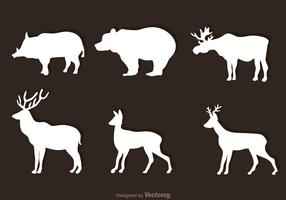 Animal Forest White Vectors