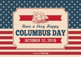 Vintage Columbus Day Illustration