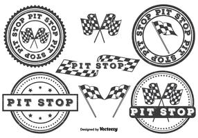Pit Stop Badge Set