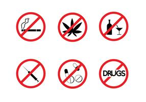 Free No Drugs Signs Vector