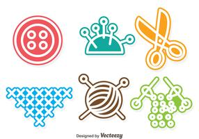 Sewing Colorful Vectors