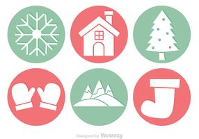 Winter Circle Vectors
