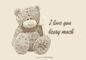 Free Vector Vintage Teddy Bear