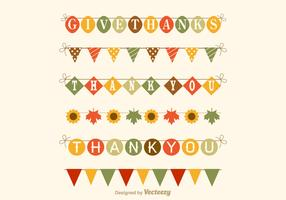 Free Thanksgiving Garland Vector Set