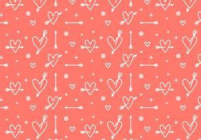 Free Heart Vector Pattern #3