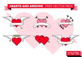 Hearts And Arrows Free Vector Pack