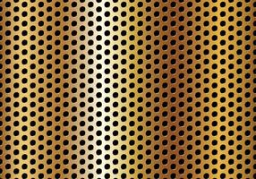 Free Circle Perforated Golden Metal Vector