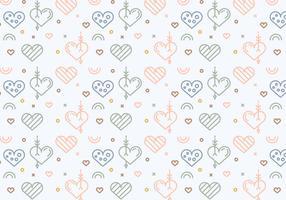 Free Heart Vector Pattern #4