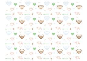 Free Heart Vector Pattern #2