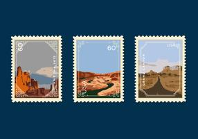 Vector Grand Canyon Postage Stamp