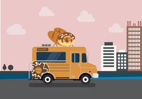Vector Bakery Truck