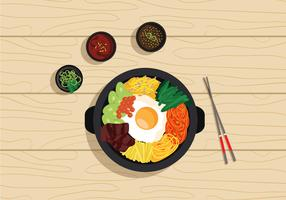 Vector Bibimbap Korean Food