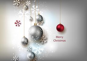 Free Christmas Grey Background Vector