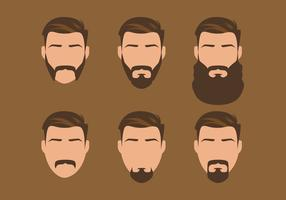 Vector Old Style Beard