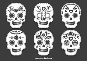 Day of the dead skull vectors