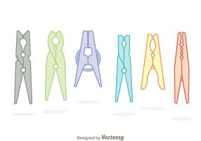 Clothespin Soft Colors Icons