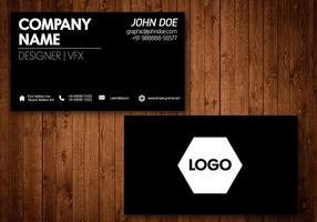 Black Business Card Vector Template