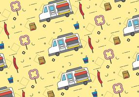 Free Foodtruck Vector Patterns #3