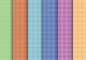Creative Plaid Pattern Vectors