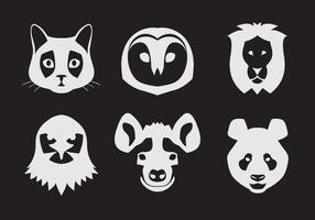 Vector Set of Animal Portraits