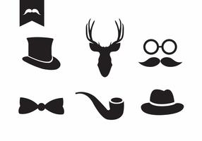 Vector Set of Vintage Accessories