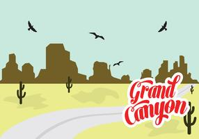 Vector Illustration of Grand Canyon