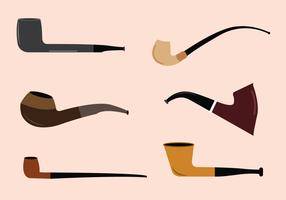 Vector Set of Tobacco Pipes