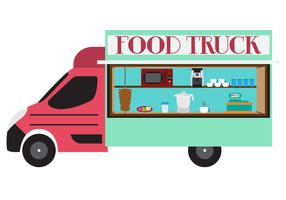 Illustration of Food Truck in Vector