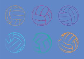 Free Volleyball Vector Illustration