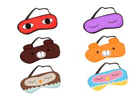 Sleeping mask vectors
