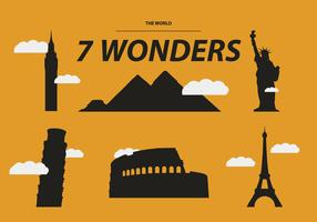 THE SEVEN WONDERS VECTOR