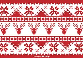 Christmas traditional pixel border