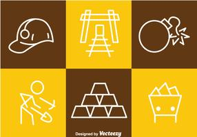 Gold Mine Tin Outline Icons