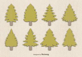 Flat pine vector