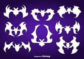 White bats silhouettes