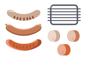 Bratwurst Vector Set