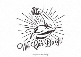 Free Vector We Can Do It Retro Poster
