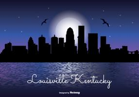 Louisville Kentucky Night Skyline