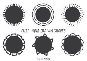 Cute Hand Drawn Style Assorted Shape Set